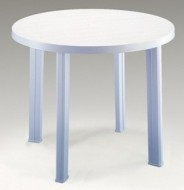 9c04bc5ecd80 Plastový stôl Tondo - guľatý biely